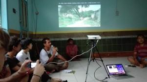 Public meeting in mosque in Kerapu kampung