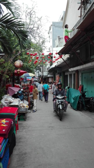 Chinese section of market