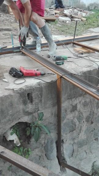 Installing steelwork